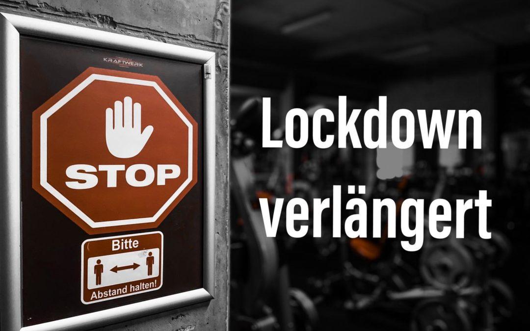 LOCKDOWN VERLÄNGERT bis zum 31.01.2020